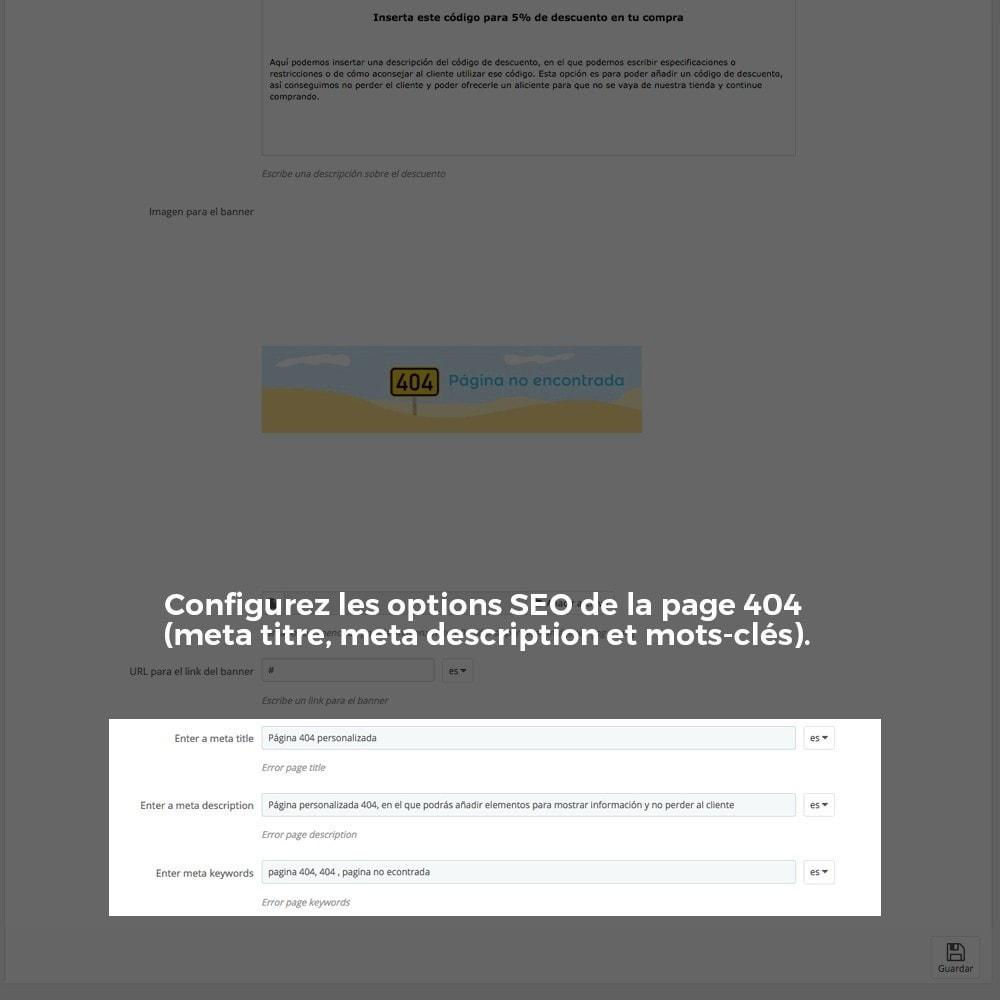 module - URL & Redirections - Personnalisation de la page d'erreur 404 - 26
