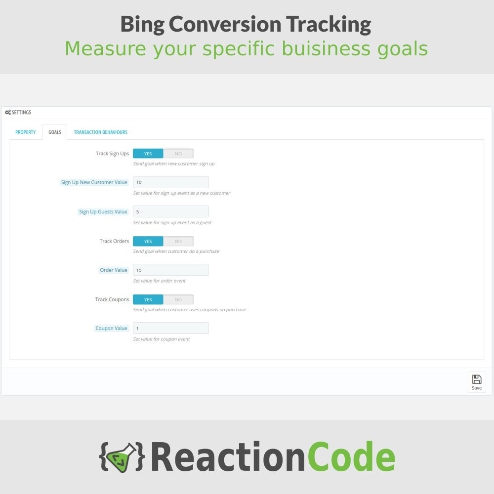 module - Analyses & Statistiques - Bing Conversion Tracking - 3