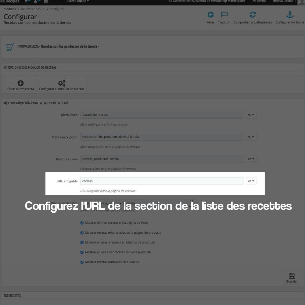 module - Blog, Forum & Actualités - Gestionnaire de recettes avec des produits magasin - 5