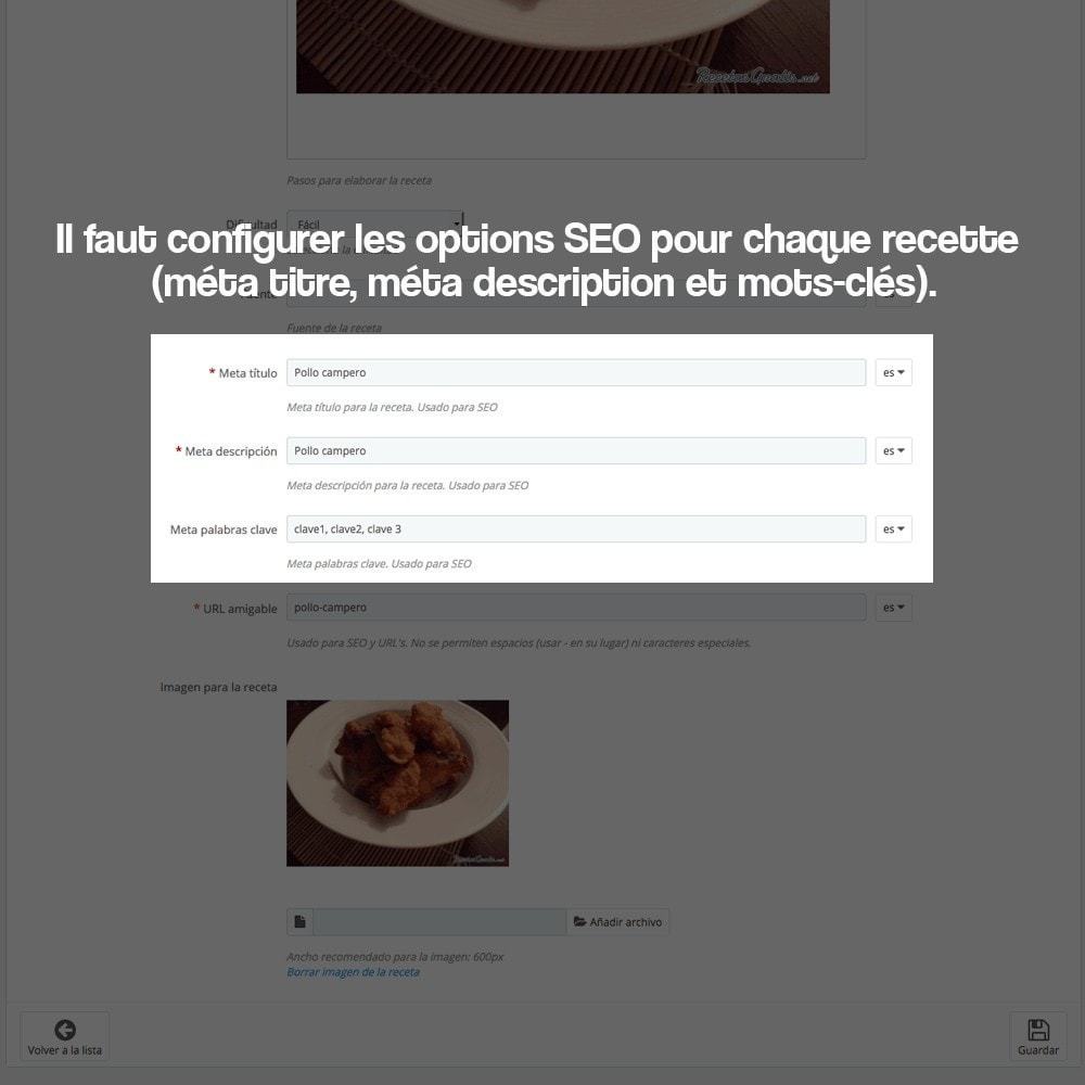 module - Blog, Forum & Actualités - Gestionnaire de recettes avec des produits magasin - 26