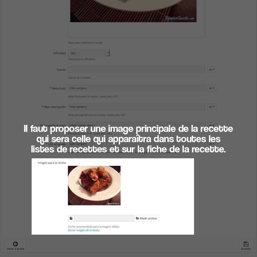 module - Blog, Forum & Actualités - Gestionnaire de recettes avec des produits magasin - 28