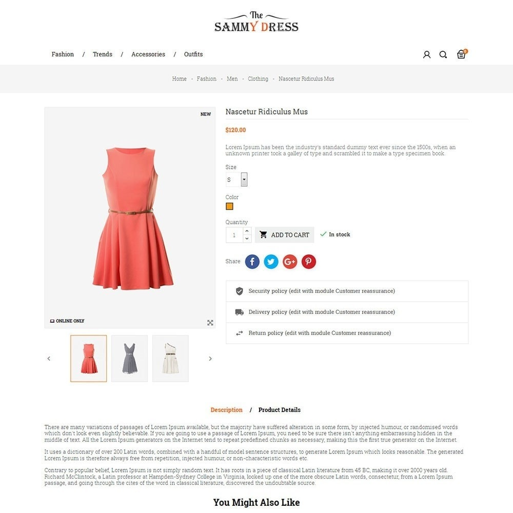 theme - Мода и обувь - The Sammy Dress Store - 5