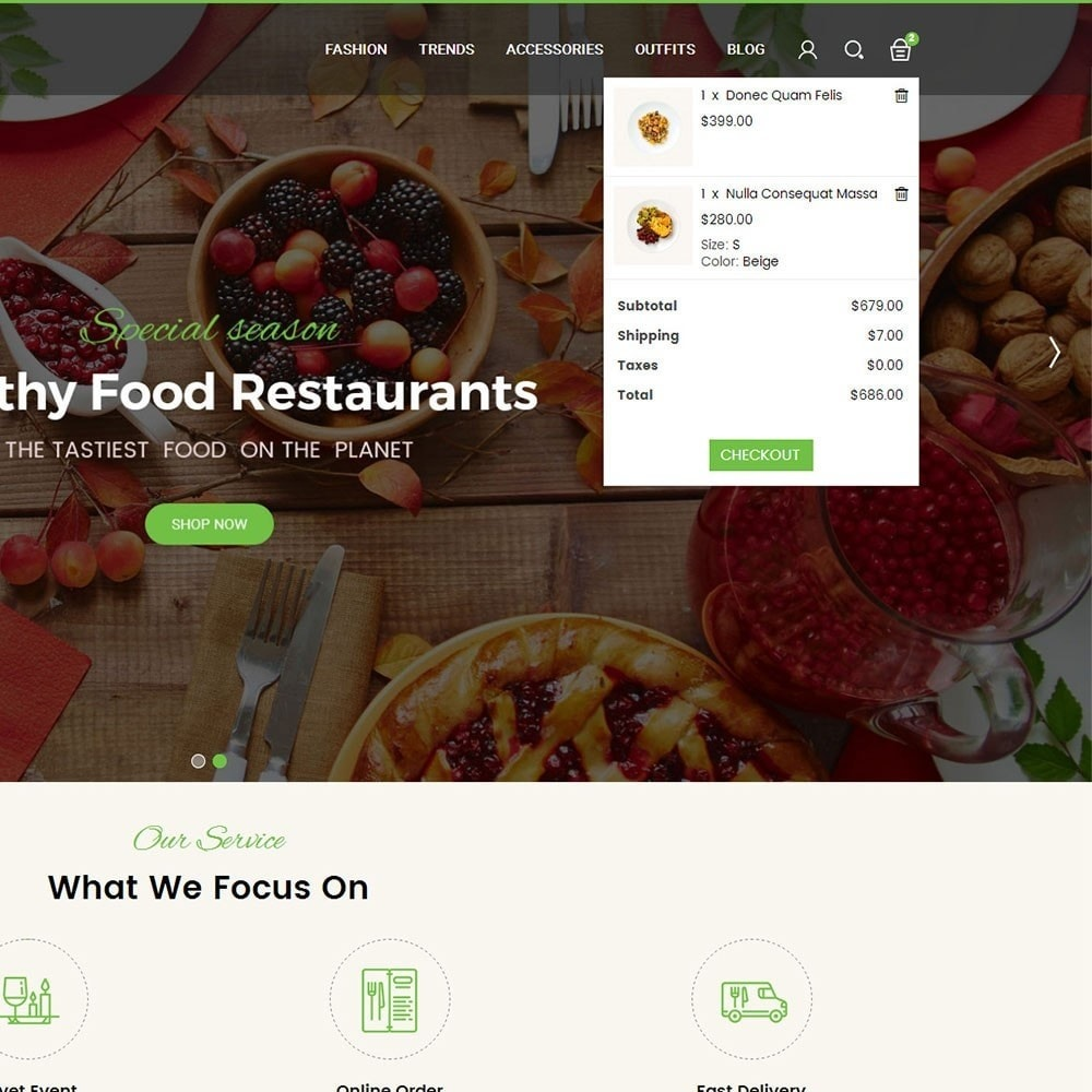 theme - Alimentation & Restauration - Pearl Food Store - 6