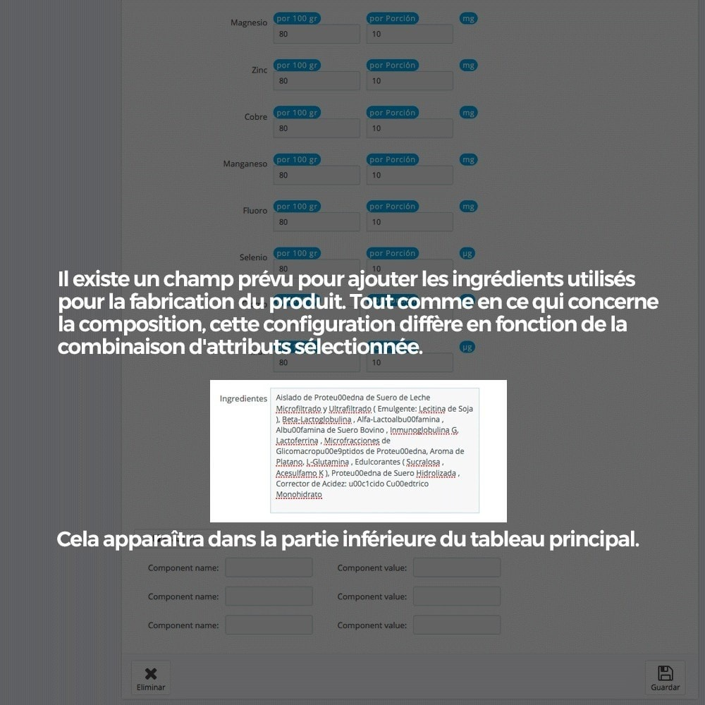 module - Information supplémentaire & Onglet produit - Information nutritionnelle sur les produits - 11