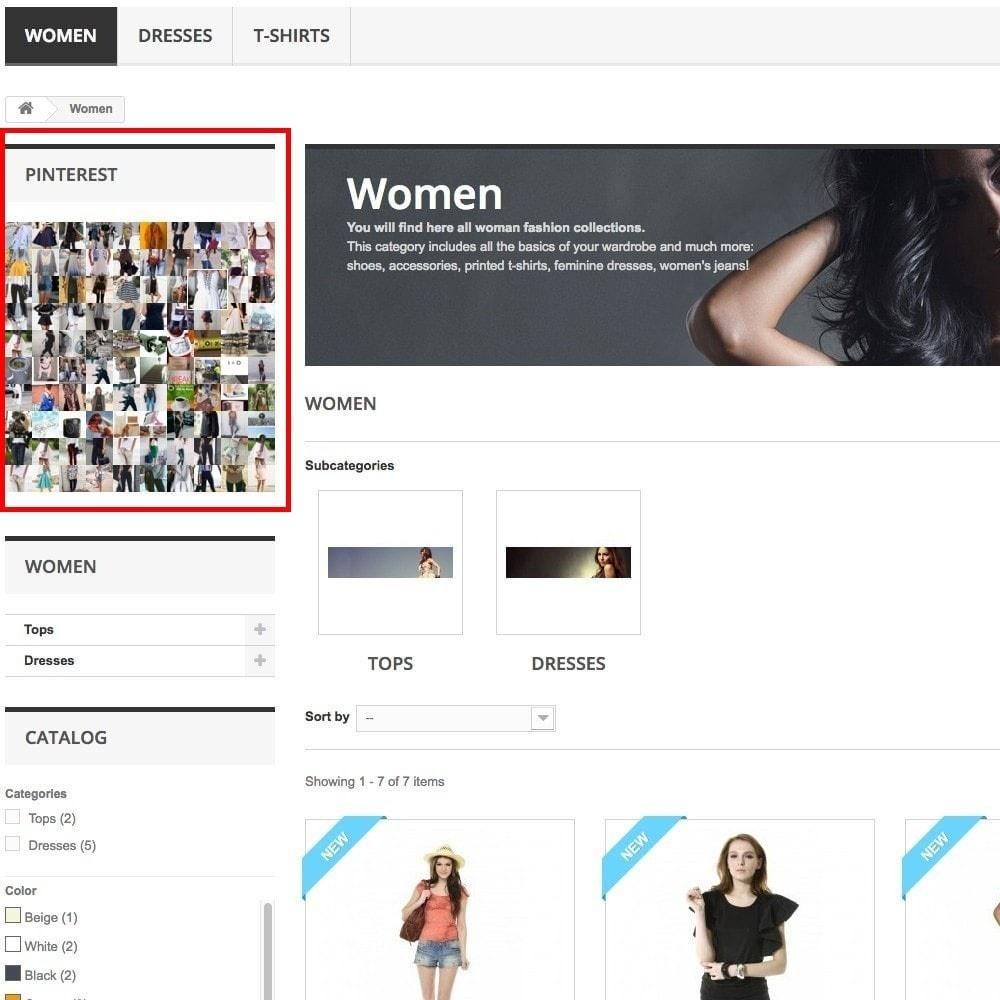 module - Виджеты для социальных сетей - Pinterest Images Feed - 6