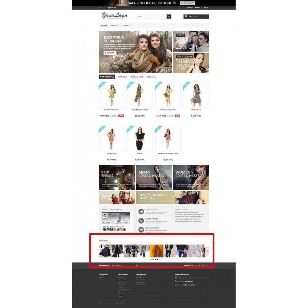 module - Виджеты для социальных сетей - Pinterest Images Feed - 10