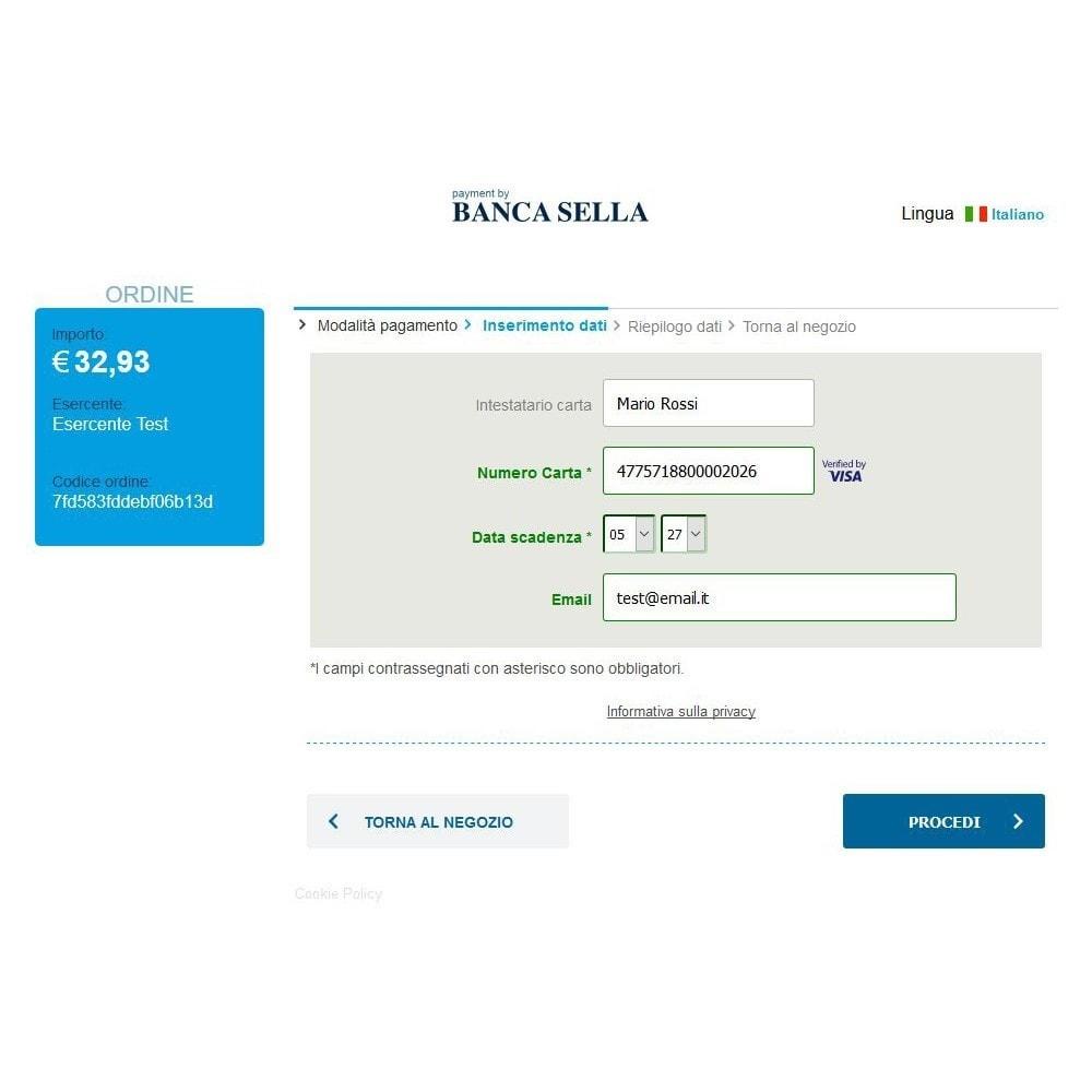 module - Оплата банковской картой или с помощью электронного кошелька - GestPay Italian Gateway Payment Banca Sella - 2