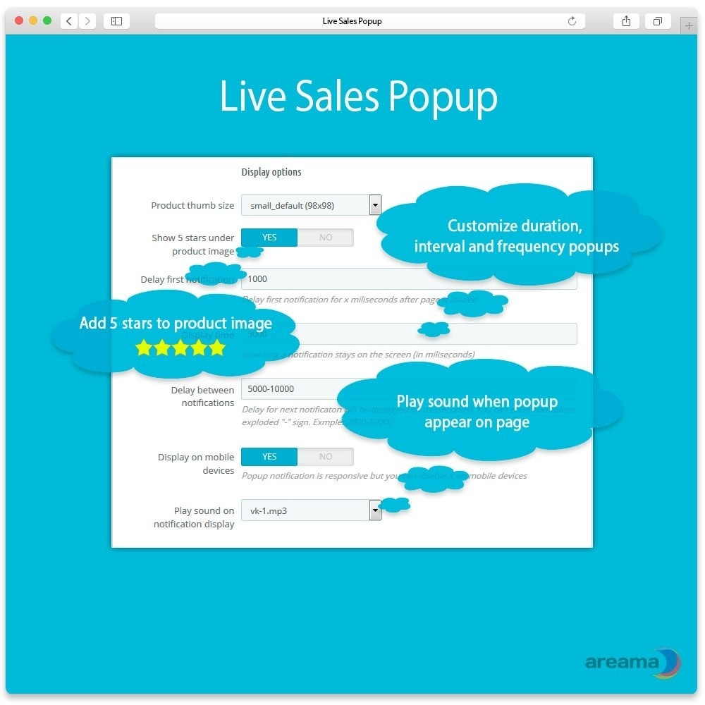 module - Emails & Notificaties - Live Sales Popup: product sold notification - 3