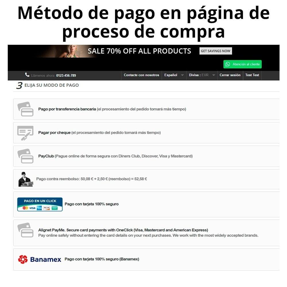 module - Pagamento por cartão ou por carteira - Banamex card payment - 5