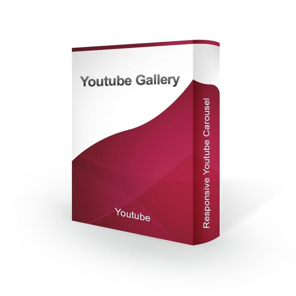 module - Sliders y Galerías de imágenes - Advanced Youtube Video Slider & Gallery - 1