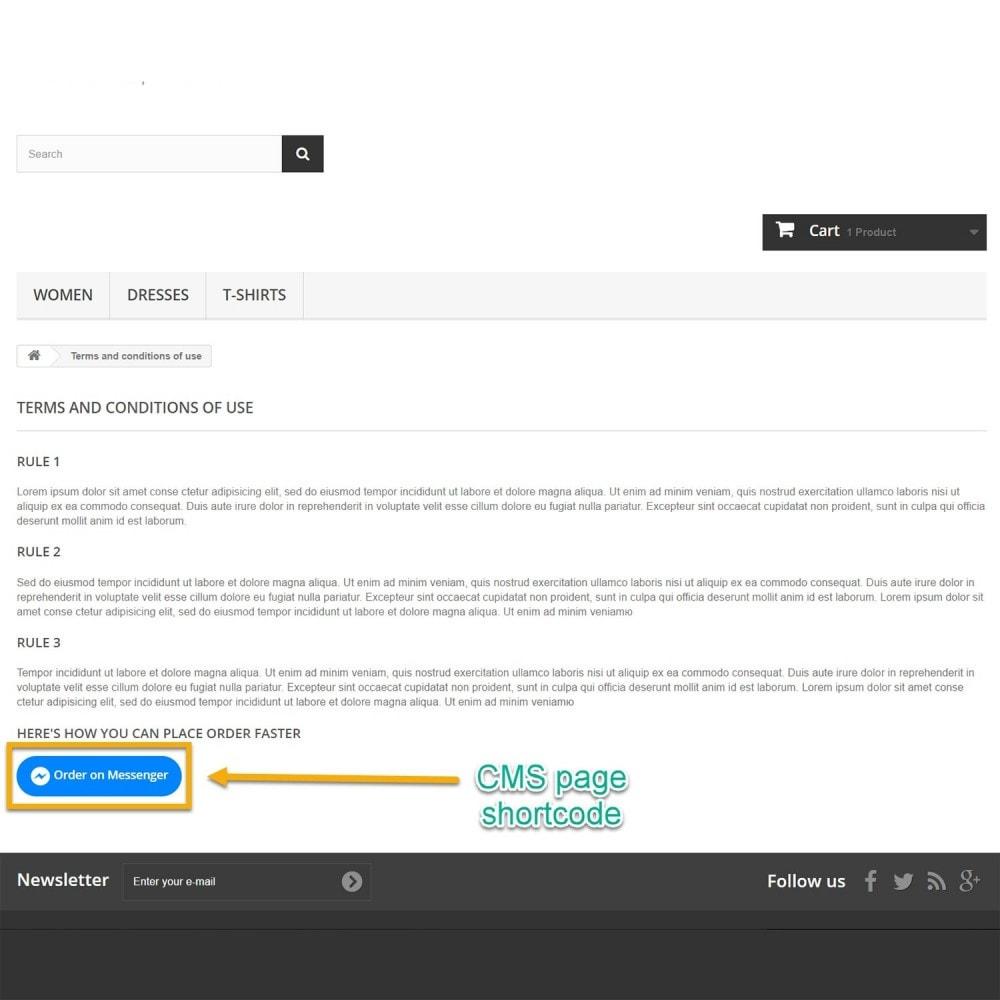 module - Управление заказами - Заказ на Messenger - 10