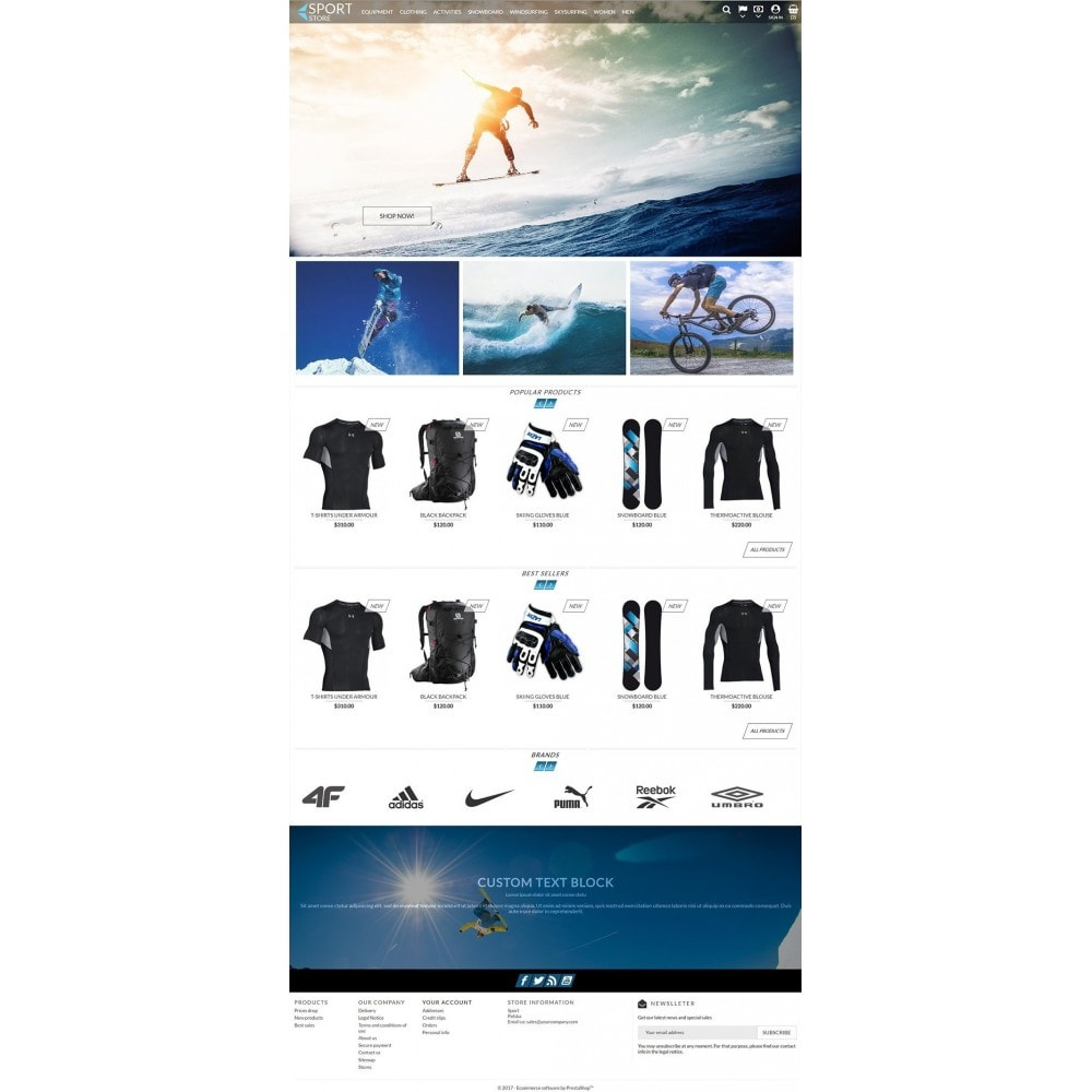 theme - Sports, Activities & Travel - Sport Store - 2