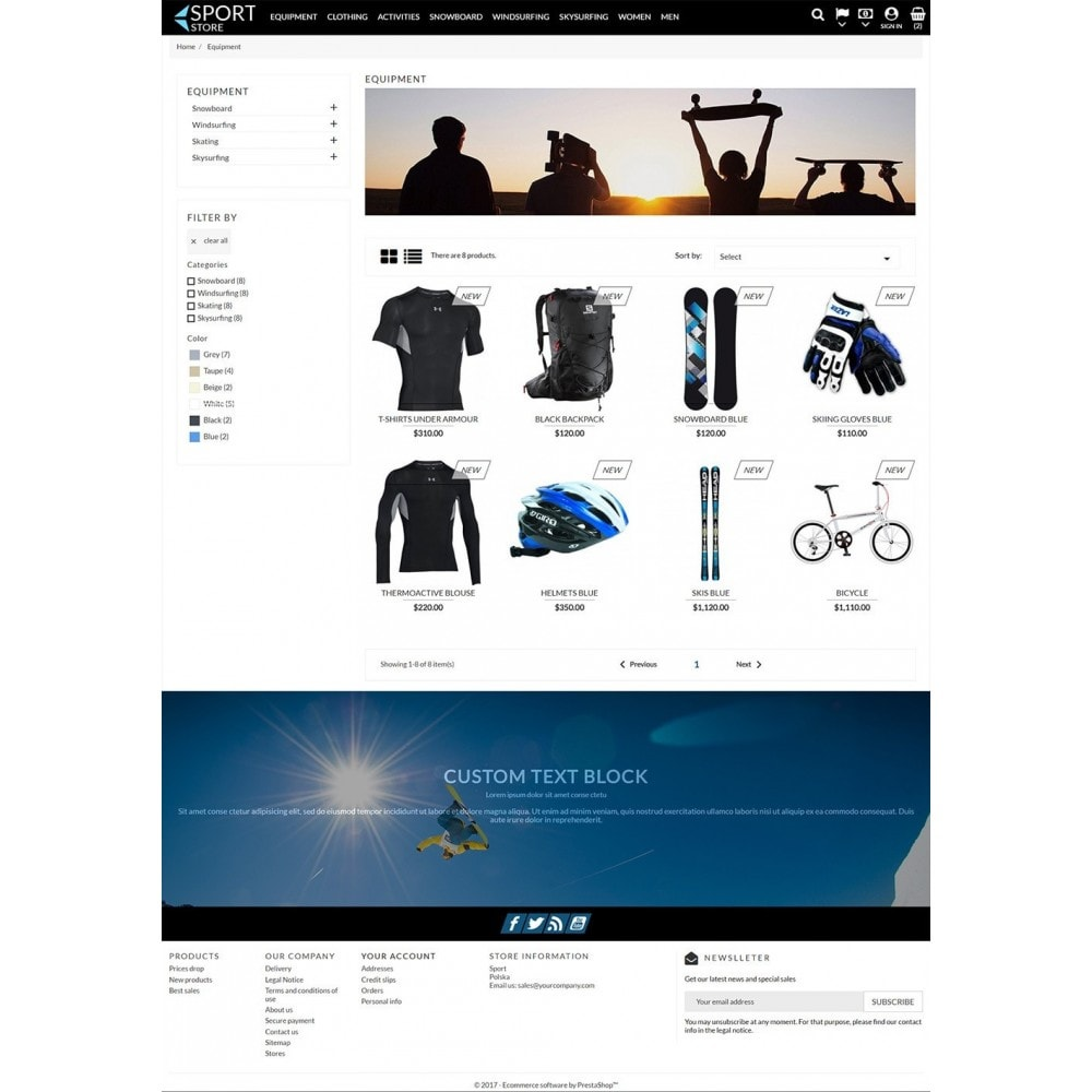 theme - Sport, Loisirs & Voyage - Sport Store - 4
