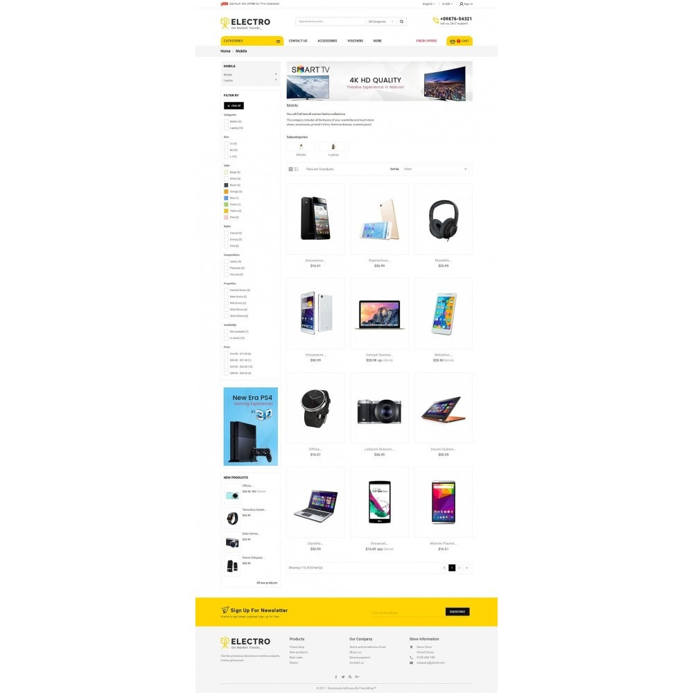 theme - Elektronica & High Tech - Mega Electronics Store - 3