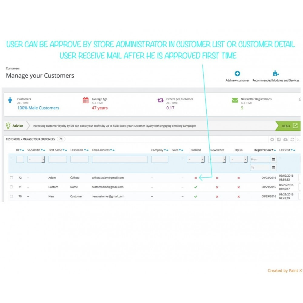 module - B2B - B2B Validierung Reg. User und Preisedecken für Besucher - 4