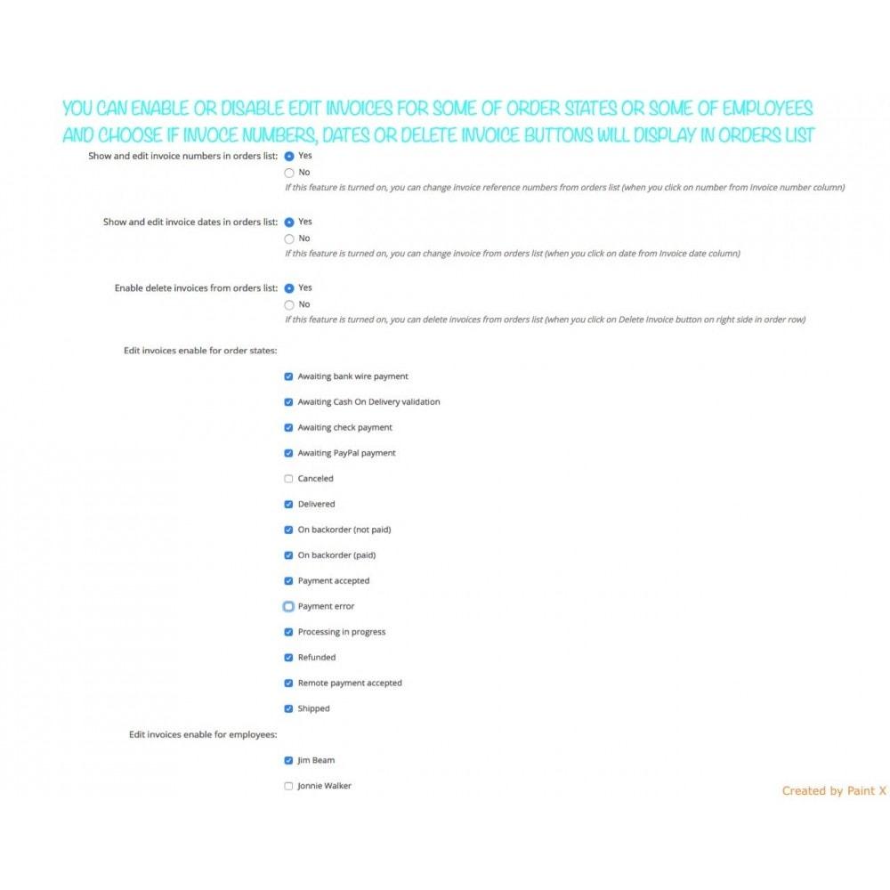 module - Buchhaltung & Rechnung - Modern Faktur Nr. Generieren, editieren und Löschen - 4