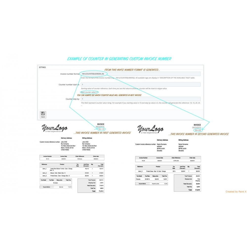module - Buchhaltung & Rechnung - Modern Faktur Nr. Generieren, editieren und Löschen - 5