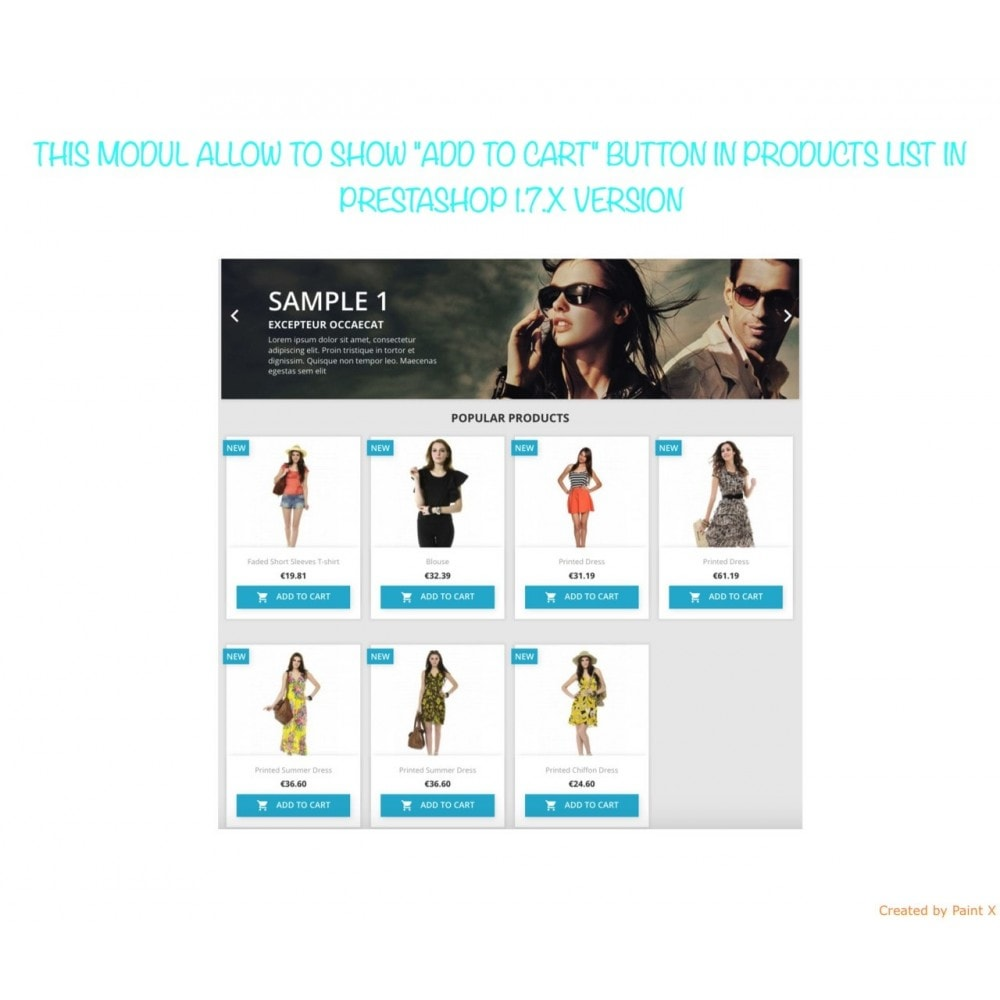 """module - Anmeldung und Bestellvorgang - """"In den Warenkorb"""" Taste in der Produktliste Anzeigen - 1"""