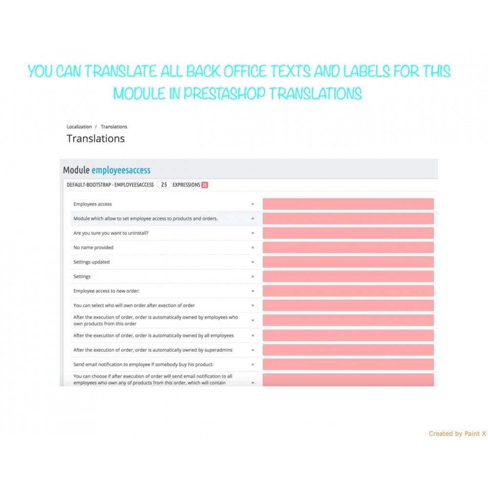 module - Auftragsabwicklung - Besitzrecht der Angestellten zu Produkten, Bestellungen - 8