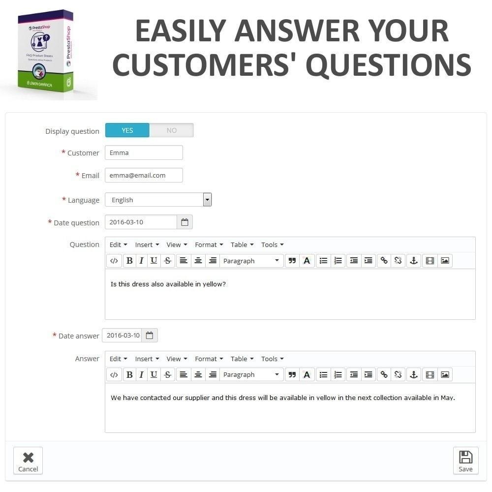module - FAQ (Häufig gestellte Fragen) - FAQ Produktblätter - Häufig gestellte Fragen - 11
