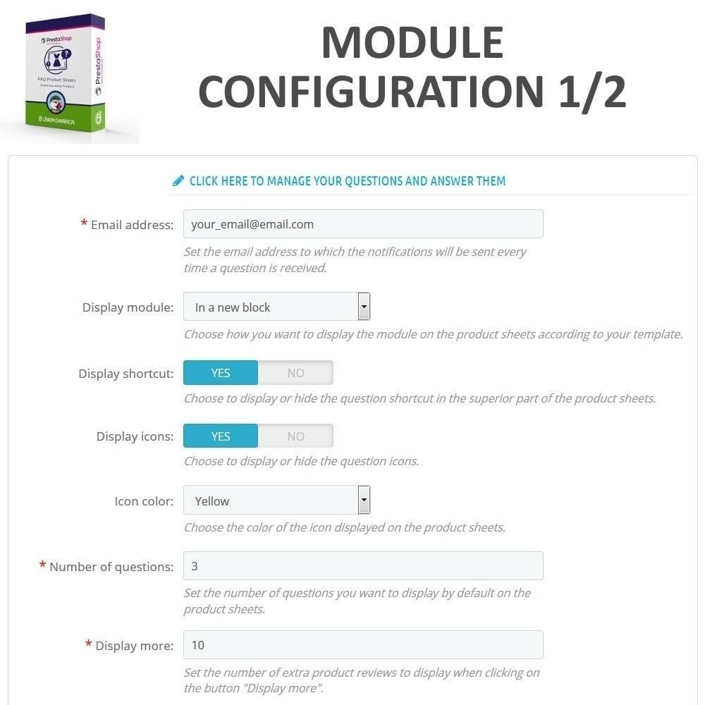 module - FAQ (Domande Frequenti) - FAQ Schede prodotti - Domande frequenti - 3