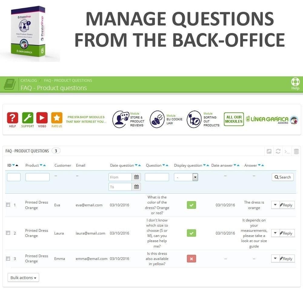module - FAQ (Domande Frequenti) - FAQ Schede prodotti - Domande frequenti - 10