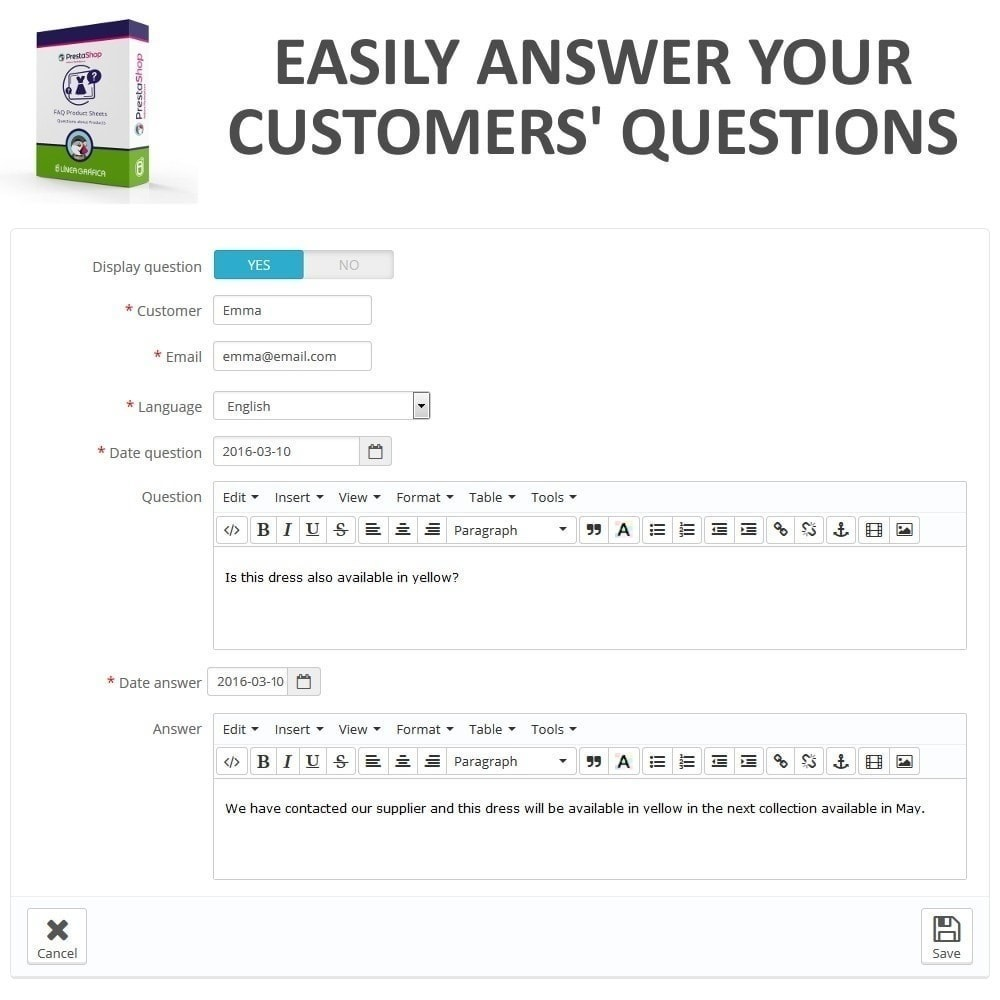 module - FAQ (Domande Frequenti) - FAQ Schede prodotti - Domande frequenti - 11
