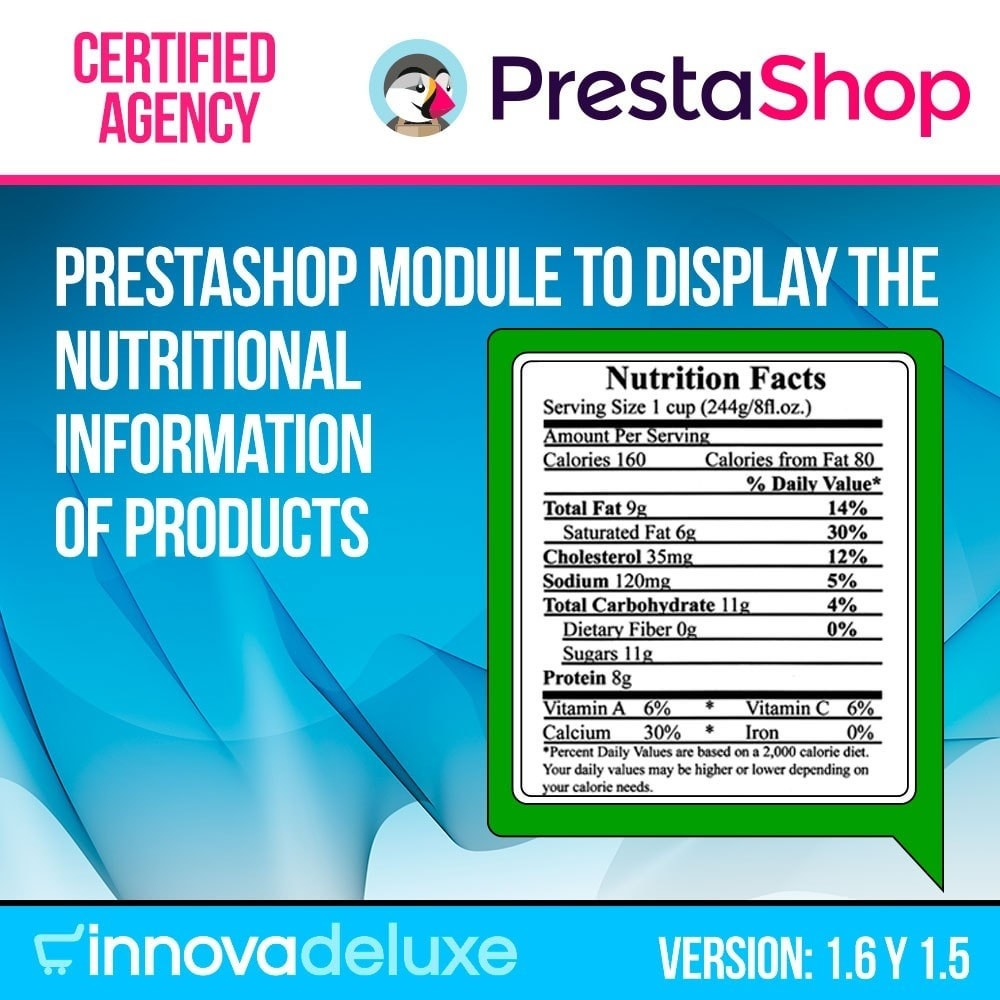 module - Additional Information & Product Tab - Products nutritional information - 1