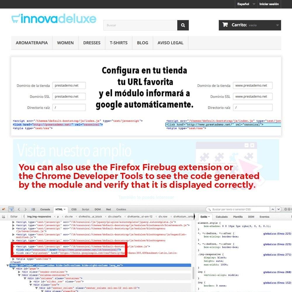 module - URL & Omleidingen - Canonical URL redirect information for Google - 5