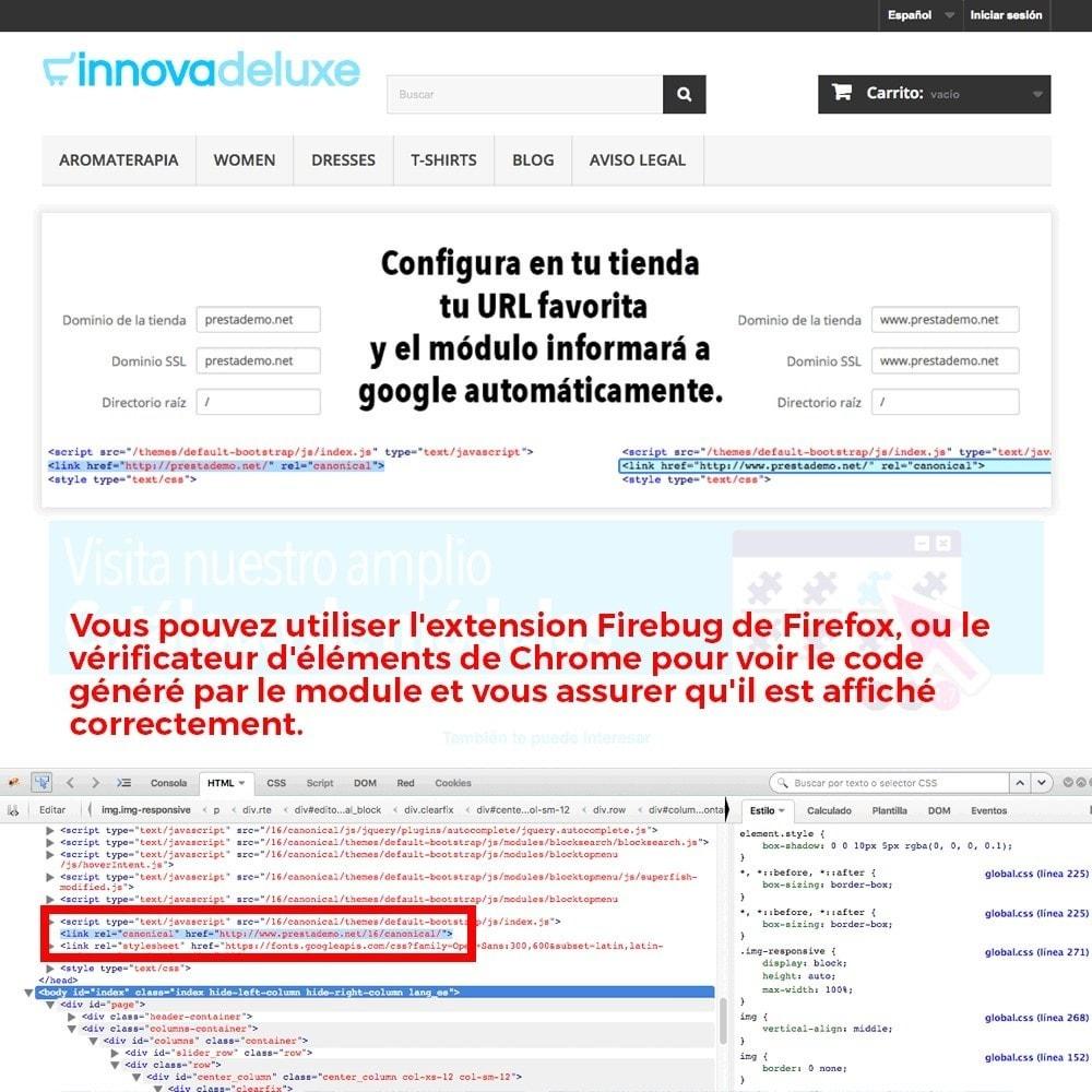 module - URL & Redirections - Information sur redirection d'URL canonique pour Google - 5