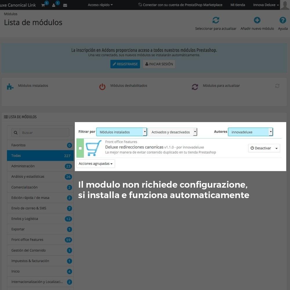 module - URL & Redirect - Informazione URL reindirizzamento canonico per Google - 2