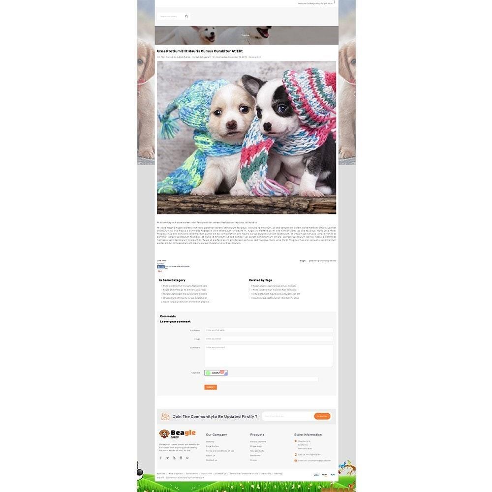 theme - Animales y Mascotas - Beagle shop - 8
