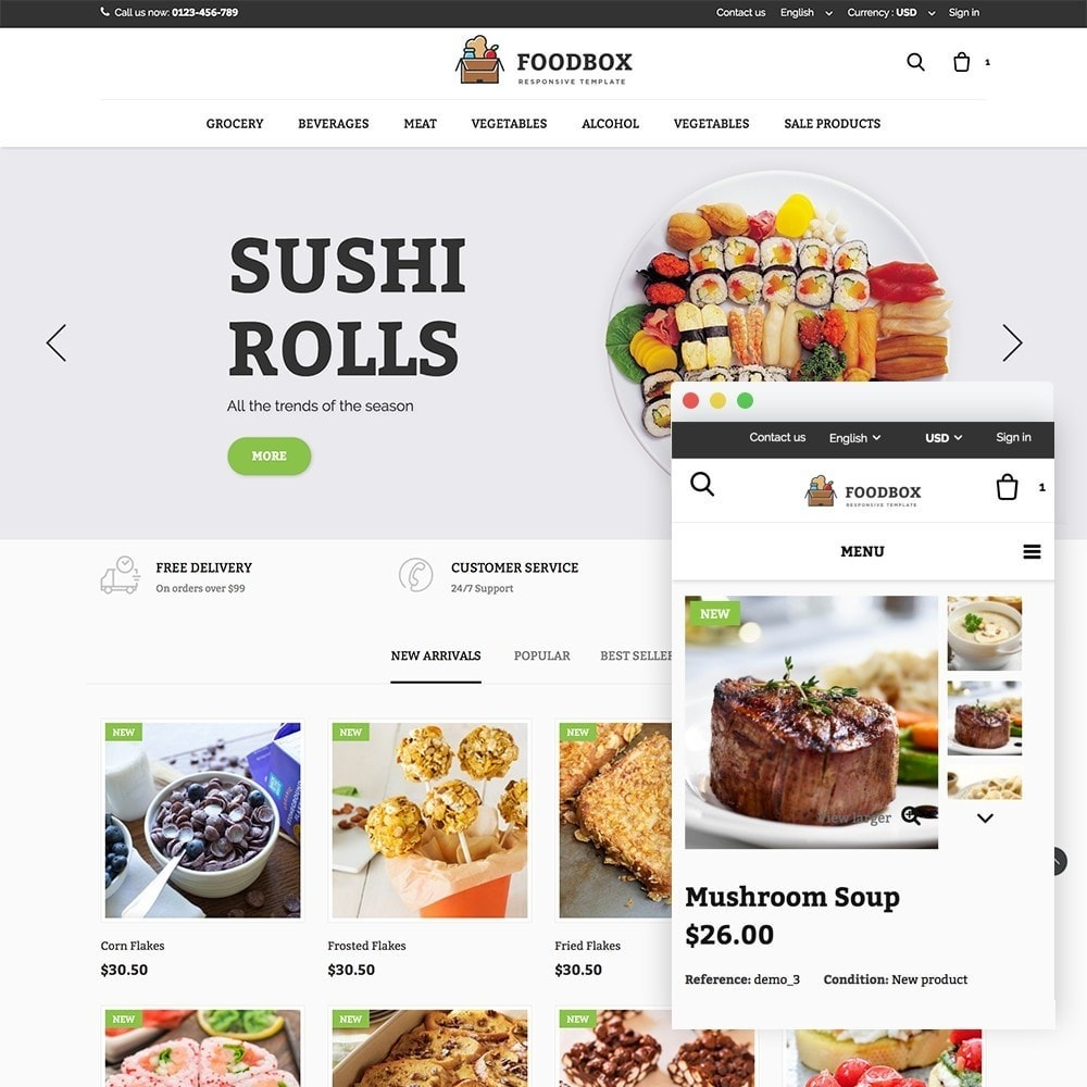 theme - Food & Restaurant - Foodbox - 1