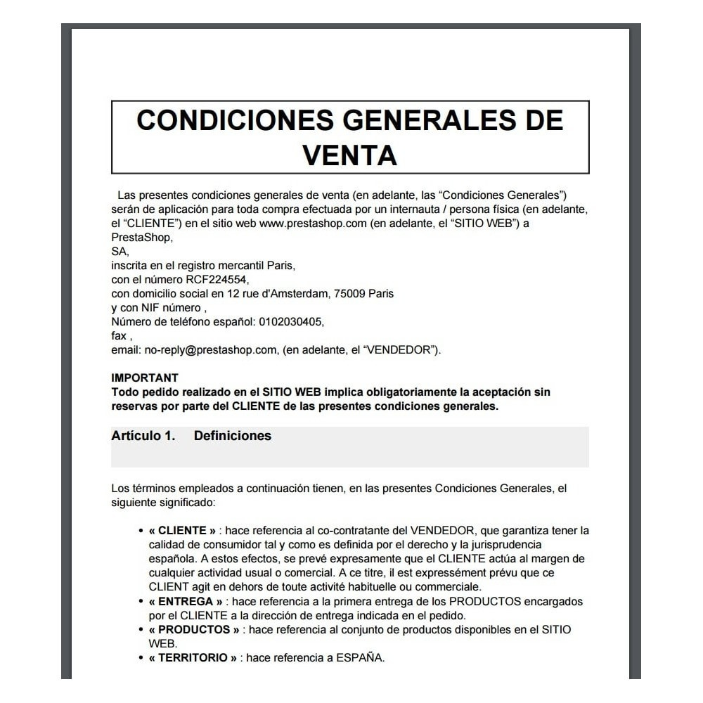 bundle - Le offerte del momento per risparmiare! - Custom Terms and Conditions for Spain + Cookie Policy Banner (Pack) - 10