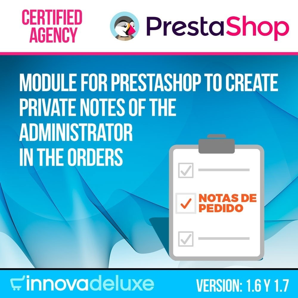 module - Auftragsabwicklung - Private manager notes on orders - 1