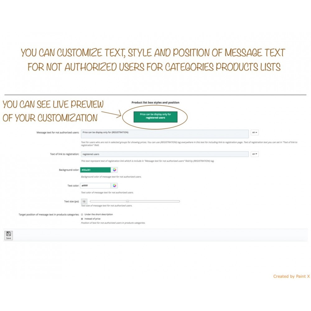 module - Kundenverwaltung - B2B verstecken der Preise für unautorisierte Kunden - 5
