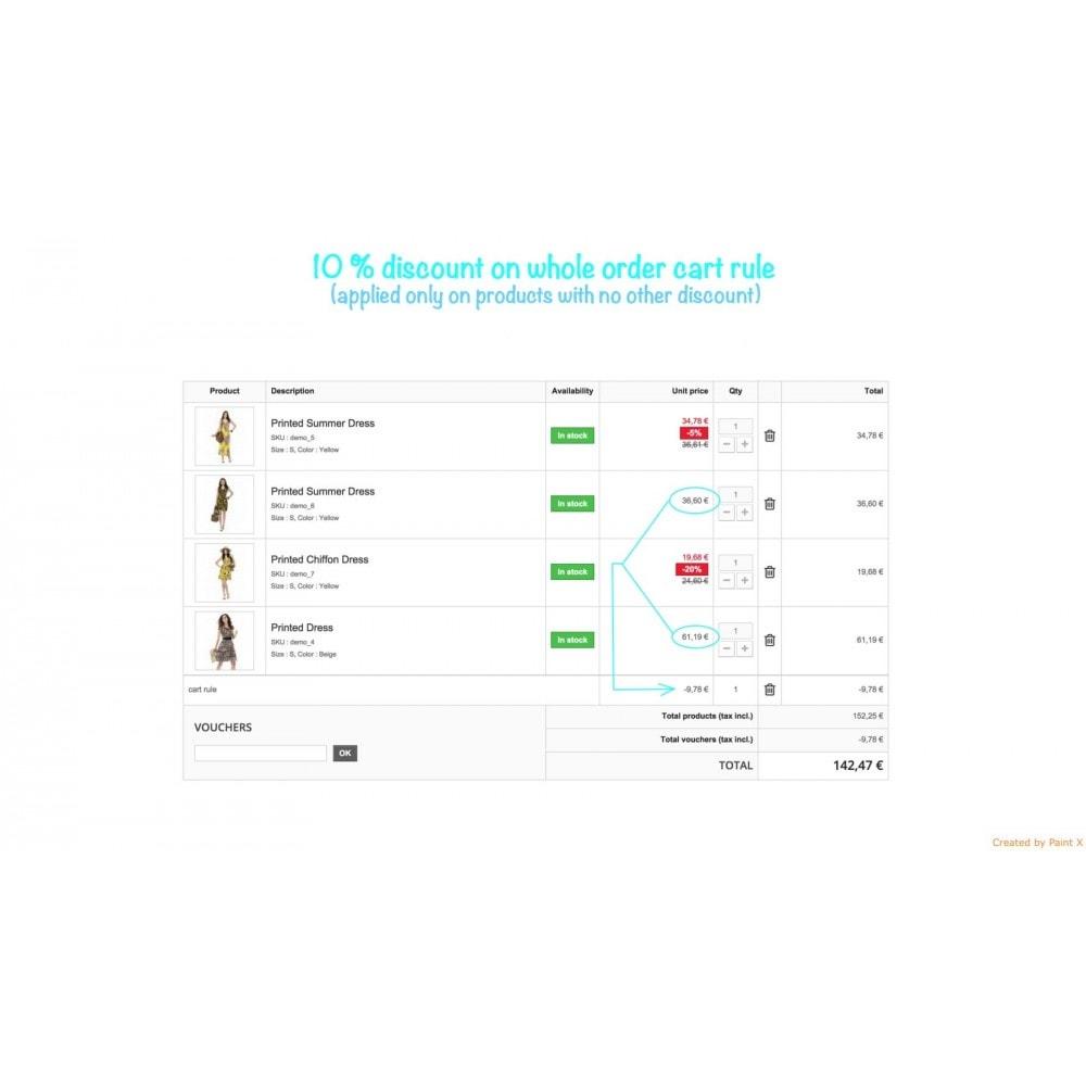 module - Promotion & Geschenke - Non-Kumulierte Warenkorbrabatte mit anderen Rabatten - 1