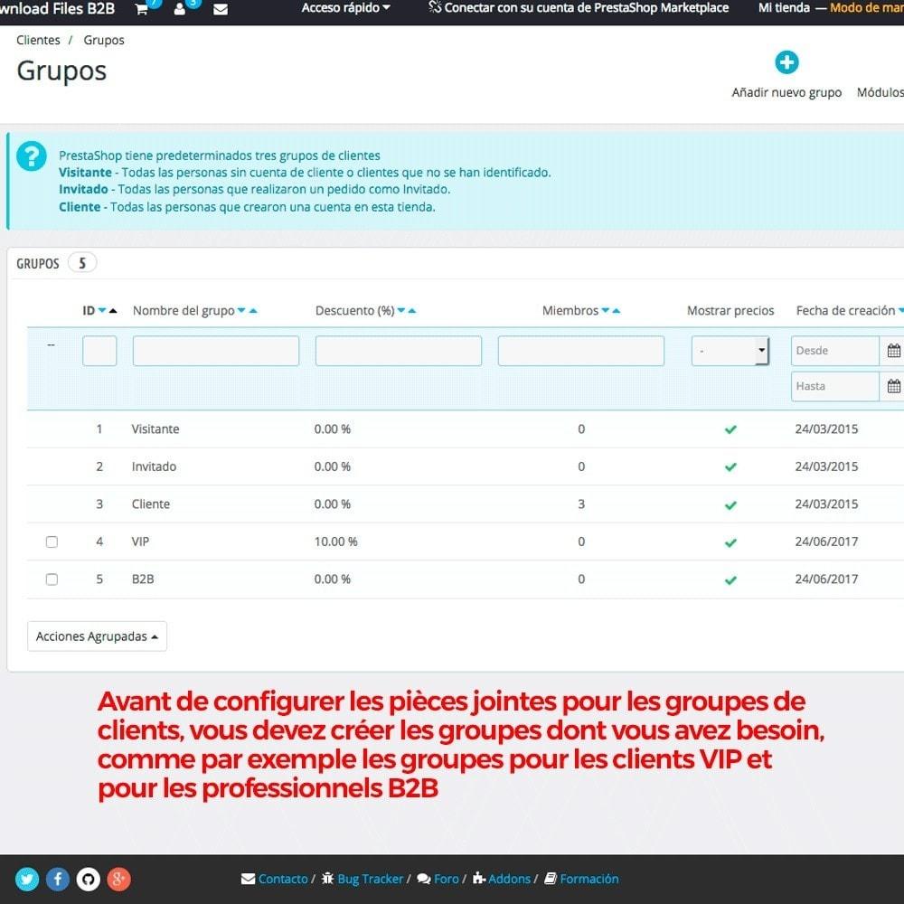 module - Gestion des clients - Pièces jointes Produit par groupe de clients - 3