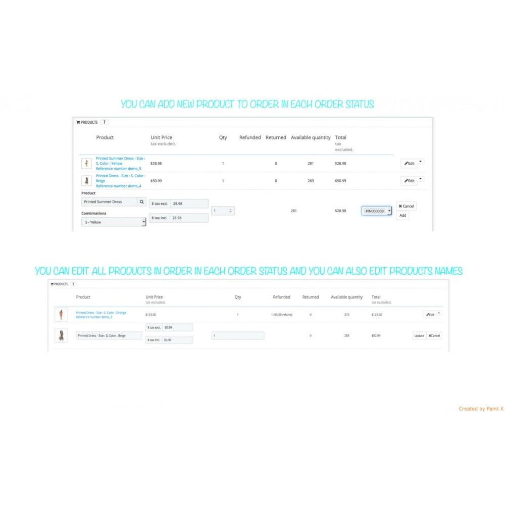 module - Auftragsabwicklung - Order Management – Regelung existierender Bestellungen - 2
