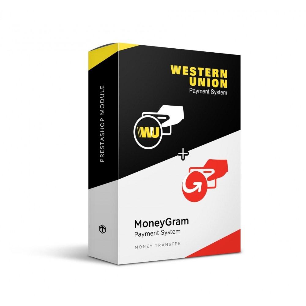 module - Оплата банковской картой или с помощью электронного кошелька - Western Union and Money Gram with Online Payment button - 1