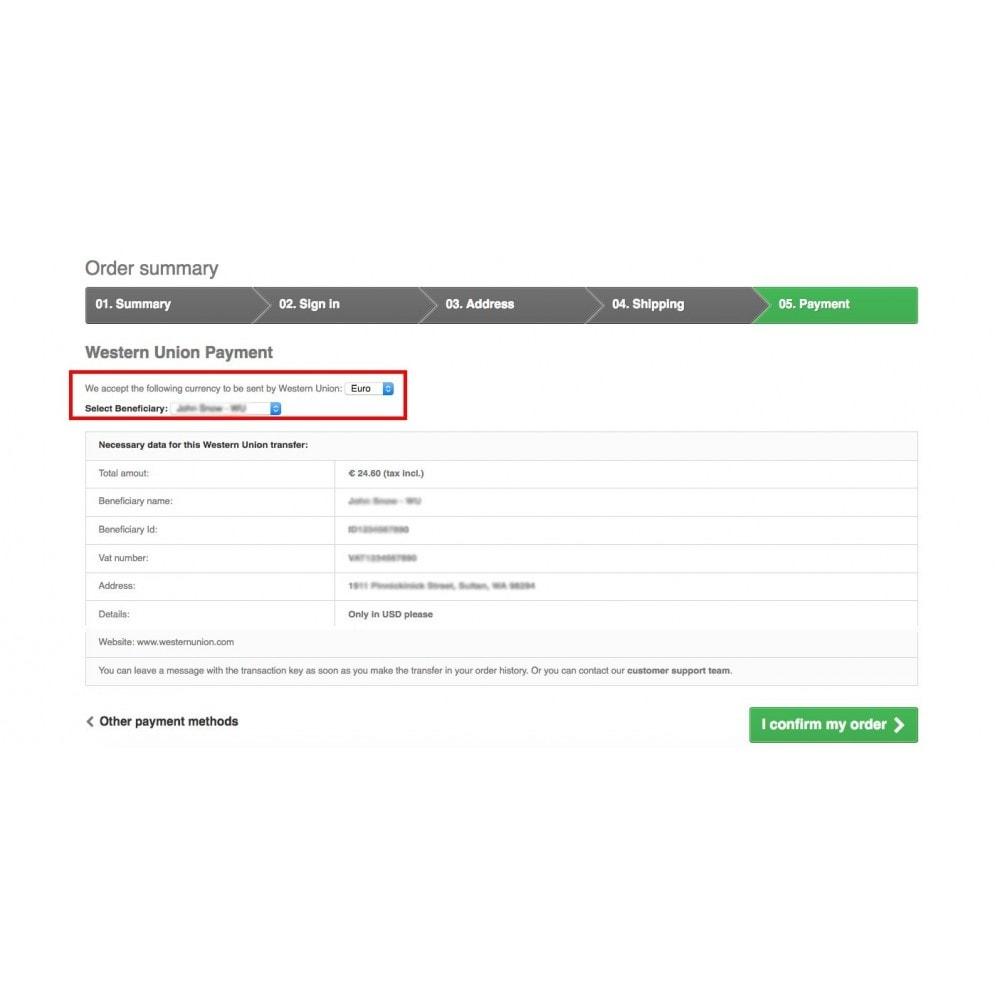 module - Оплата банковской картой или с помощью электронного кошелька - Western Union and Money Gram with Online Payment button - 9