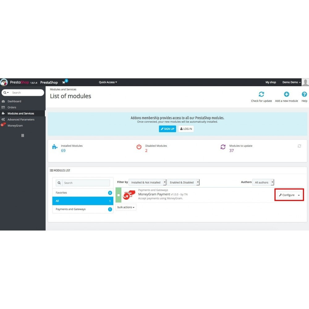 module - Кассовое ПО - Money Gram with Online Payment button - 2