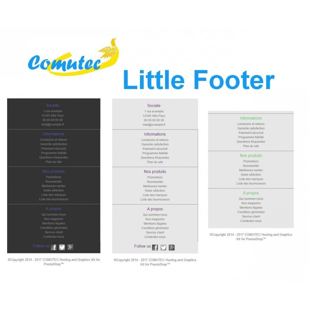 module - Page Customization - Comutec Little Footer - 2