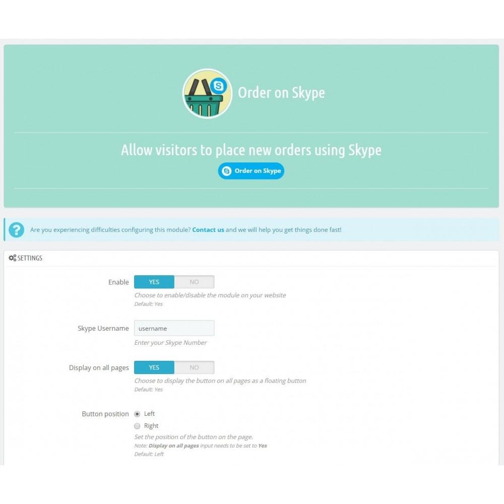 module - Order Management - Order on Skype - 3