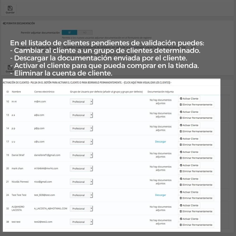 module - B2B - Registro de clientes validado por el administrador - 9
