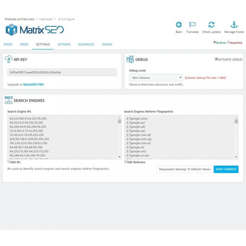 module - SEO (référencement naturel) - Matrix SEO - 1