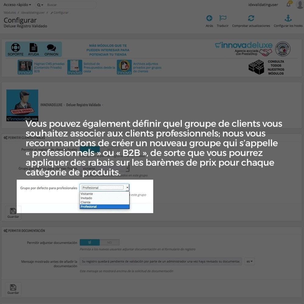 module - B2B - Enregistrement de clients validé par l'administrateur - 5
