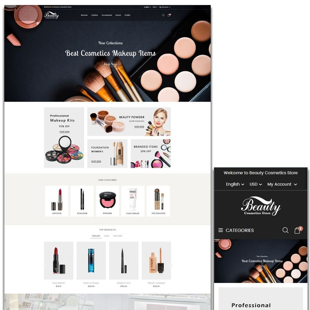 theme - Salud y Belleza - Beauty Cosmetics Store - 1