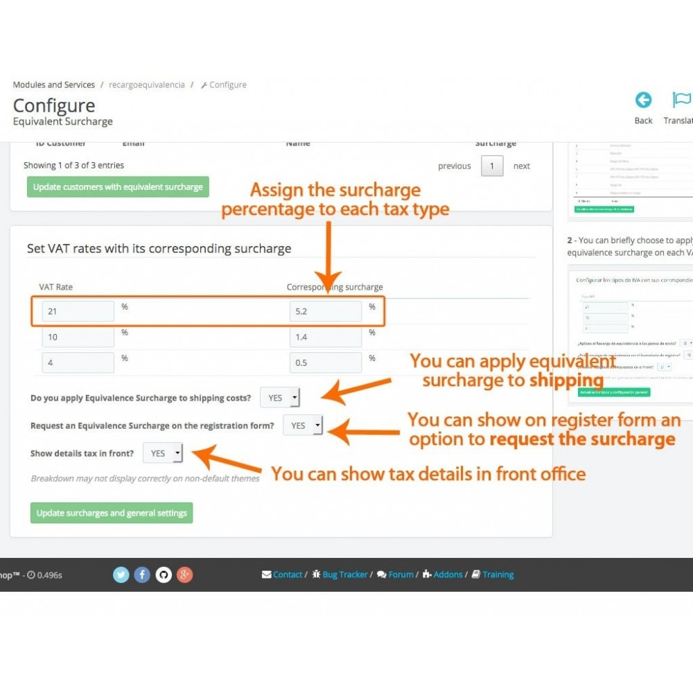 module - Boekhouding en fakturatie - Equivalence Surcharge for Spanish VAT - 2