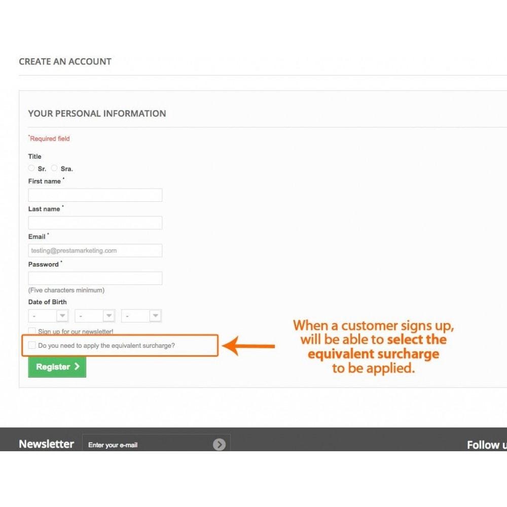 module - Boekhouding en fakturatie - Equivalence Surcharge for Spanish VAT - 3